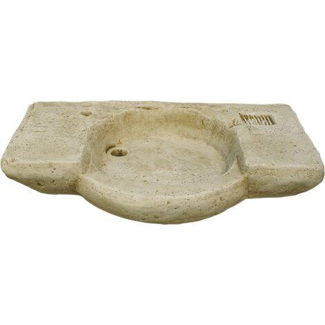 LAVE-MAINS RUSTIQUE pour intérieur ou extérieur en béton-pierre 90X55X88cm.