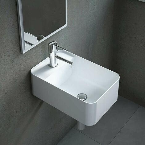 Lave-mains suspendu en Solid surface 40 cm - Falco