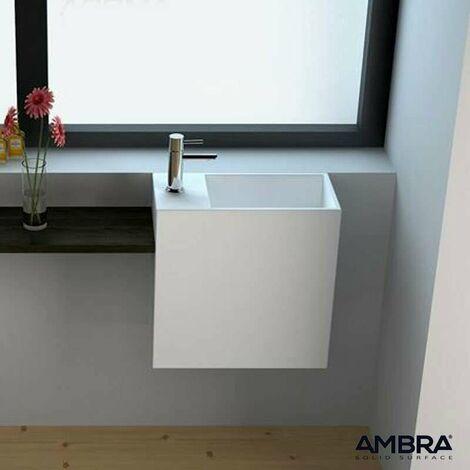 Lave-mains suspendu gauche - Palma en Solid surface
