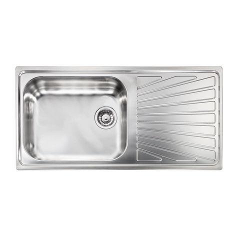 Lavello COMETA 100x50 1 vasca + gocciolatoio