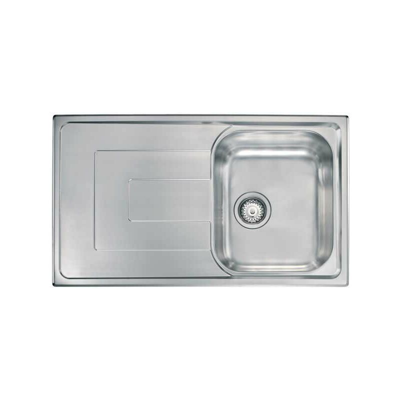 Lavello COMO 86X50 1 vasca destra + gocciolatoio ACCIAIO INOX