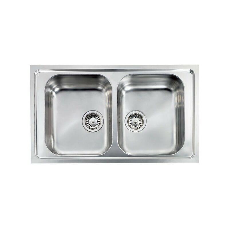 Lavello COMO 86X50 2 vasche ACCIAIO INOX