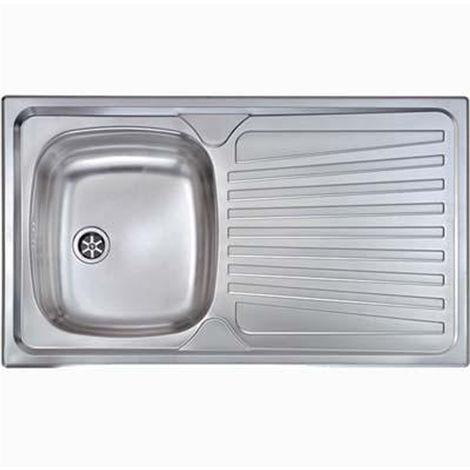 Lavello cucina in acciaio inox 86x50cm 1 vasca DX incasso gocciolatoio  1171002AE