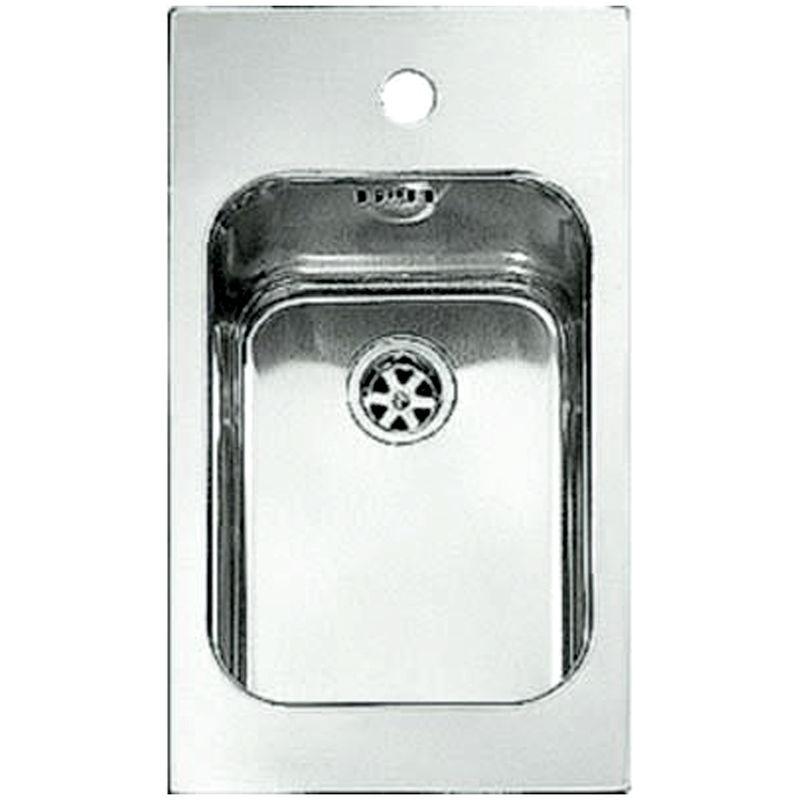 Lavello cucina in acciaio inox monovasca 29x50cm 1 vasca ad incasso ...