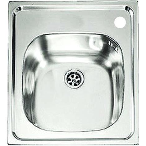 Lavello cucina in acciaio inox monovasca 44x50cm 1 vasca ad incasso ...