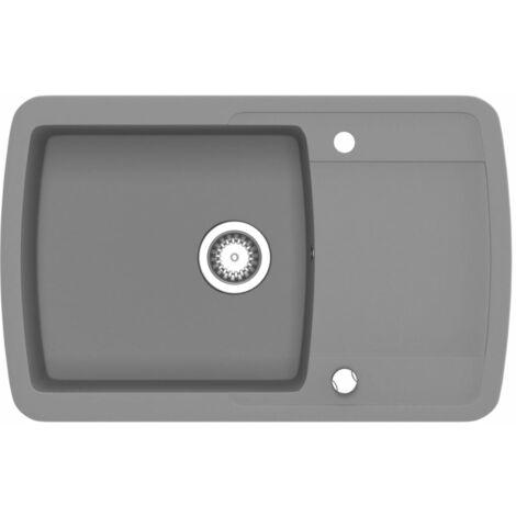 Lavello da Cucina in Granito Vasca Singola Grigio -