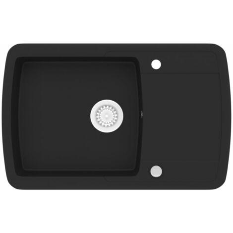 Lavello da Cucina in Granito Vasca Singola Nero