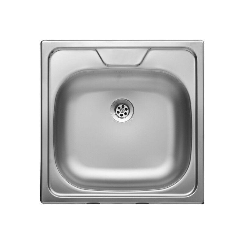 Lavello da cucina una vasca in acciaio inox satinata da incasso 48x48 cm