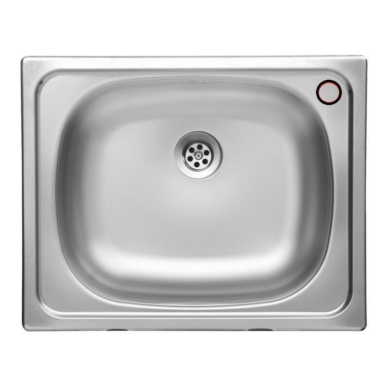 Lavello da cucina una vasca in acciaio inox satinato da incasso 40x50 cm
