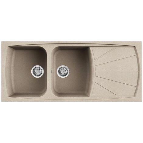 Lavello Elleci Incasso 2 vasche 116x50 Living 500 Granitek