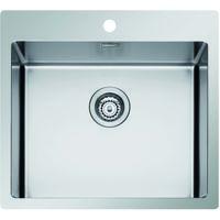 Lavello ICROS 55X51, 1 vasca con foro per miscelatore, ACCIAIO INOX AISI 304-18/10 Made in Italy