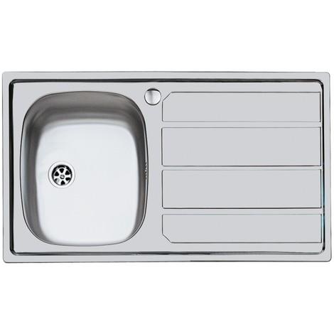 Lavello in inox con 1 vasca sxsc. 86X50 inc.