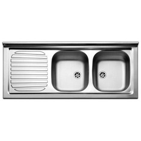 Lavello lavandino cucina inox appoggio da mobile cm 120 x 50 ala sx