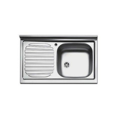 Lavello lavandino cucina inox appoggio da mobile cm 80 x 50 ala sx ...