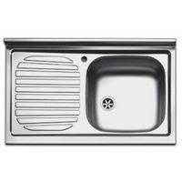 Lavello lavandino cucina inox appoggio da mobile cm 80 x 50 ala sx
