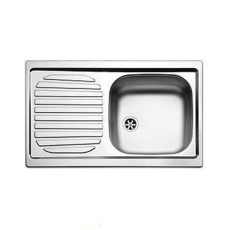 Lavello lavandino cucina inox da incasso cm 86 x 50 ala sx con piletta e sifone