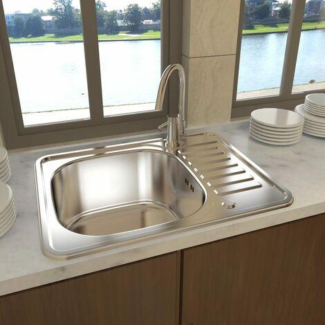 Lavello Lavandino cucina quadrato in acciaio inossidabile ...
