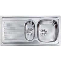 Lavello MONDIAL 100x50 2 vasche destre+ gocciolatoio ACCIAIO INOX
