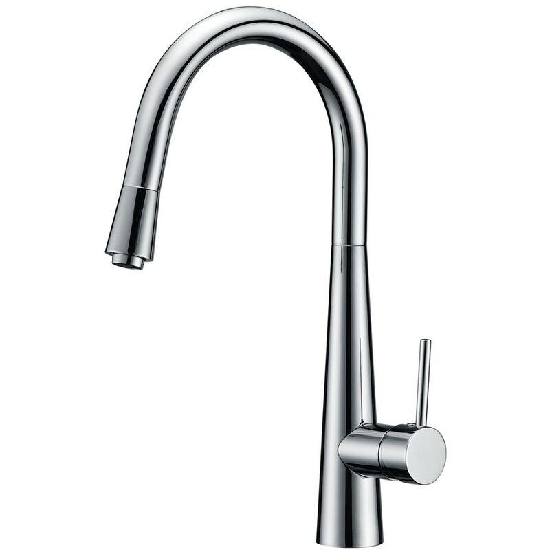 Wentworth Bathrooms - Lavello Novo Chrome Pull Out Kitchen Sink Mixer