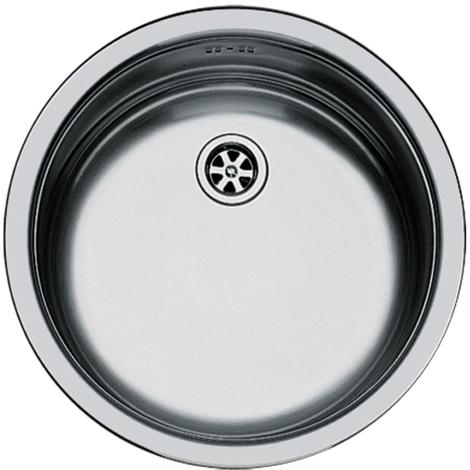 lavello tondo in acciaio inox da incasso di diametro 380 mm