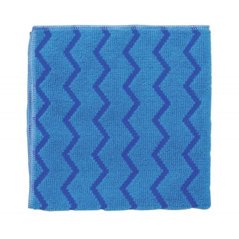 Lavette microfibre Hygen, coloris bleu, dimensions 40,60 x 40,60 cm - Bleu