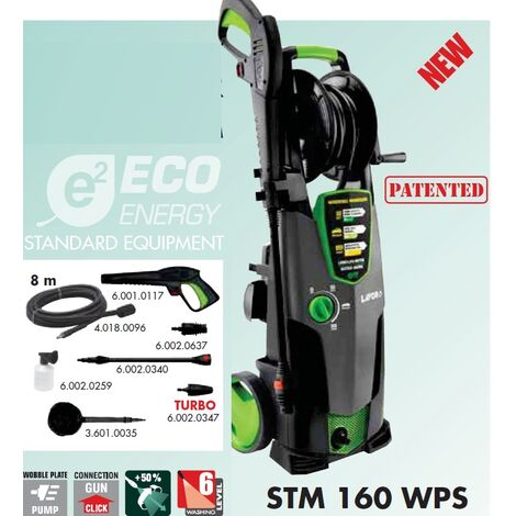Lavor - Nettoyeur haute pression ECO ENERGY 160 Bars 2500W 510L/h avec brosse rotative - STM 160 WPS