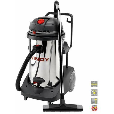 Lavor Pro - Aspirateur eau et poussières 3 moteurs en inox 3600W 78L 195l/s - WINDY 378 IR
