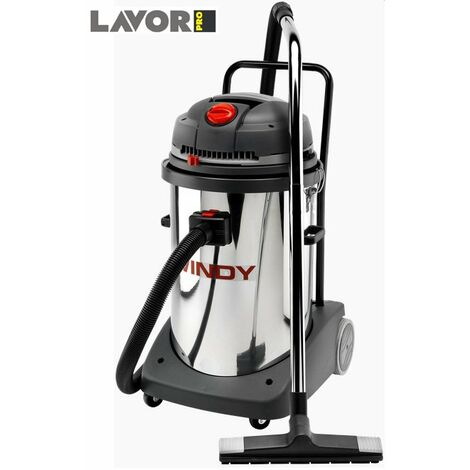 Lavor Pro - Aspirateur eau et poussières en inox 2 Moteurs 2400W 78L 130l/s - WINDY 278 IF