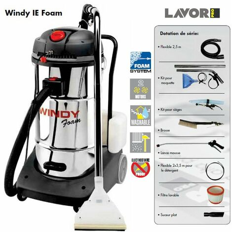 Lavor Pro - Aspirateur - Injecteur-extracteur 2400W max. 130l/s - WINDY IE FOAM