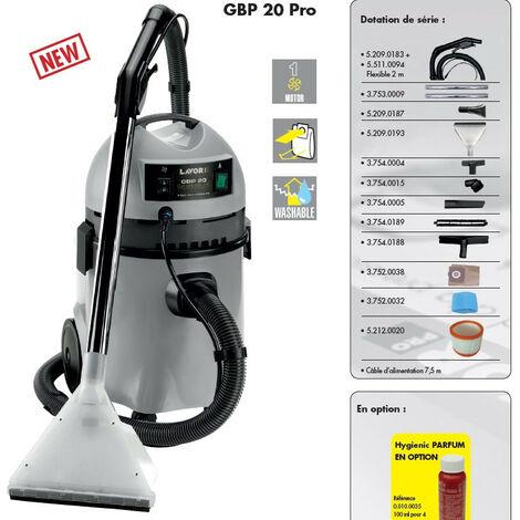 Lavor Pro - Aspirateur injecteurs extracteurs pour moquettes 1200W 20L 70L/s - GBP 20 PRO