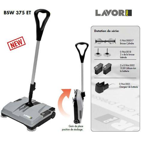 Lavor Pro - Balayeuse autotractée à Batterie Li Ion 10.8V - 375mm 25W 1000 m2/h - BSW 375 ET