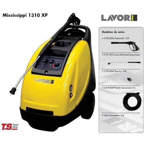 Lavor Pro - Nettoyeur haute pression eau chaude 3000W 150 Bars 600L/h - MISSISSIPPI 1310 XP