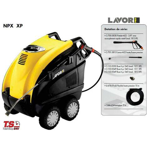 Lavor Pro - Nettoyeur haute pression eau chaude 6300W 180 Bars 780L/h triphasé sans enrouleur - NPX 1813 XP