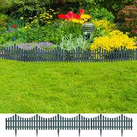 Lawn Divider Garden Border Edging 17 pcs / 10 m Green