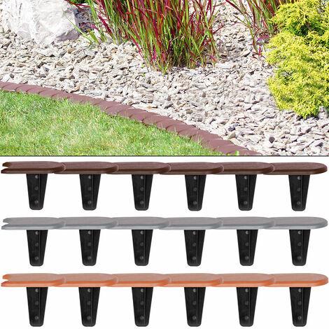 Lawn Edge 7,6m Garden Boarder Palisade Fence Border Edging