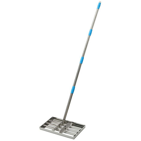 "main image of ""Lawn Leveling Rake Stainless Steel Leveling Tool Length Adjustable Sand Gravel Lawn Leveler for Courtyard Golf-Lawn Leveling"""