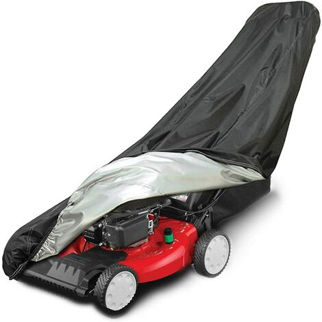 """main image of """"Lawn Mower Cover, Waterproof Heavy Duty Push Mower Covers Outdoor, Dust UV Protection, Universal with Drawstring & Cover Storage Bag, Premium Oxford 420D"""""""