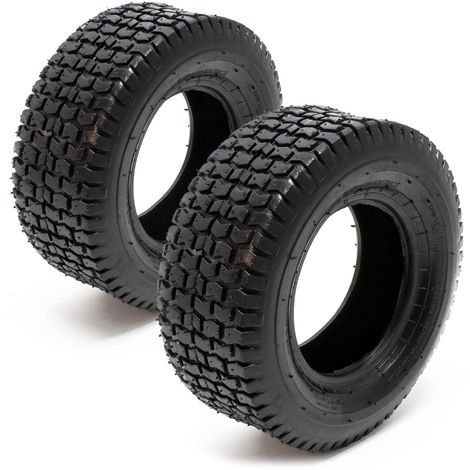 Lawn Mower Tyre Set 2x Tyres with Studded Tread Pattern 13x5.00-6