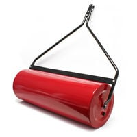 Lawn roller 35x100cm for the lawn tractor fillable with dirt wiper