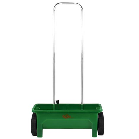 Lawn Spreader 12L Multi Purpose Drop Grit Walk Behind Grass Weed Garden Tool 10 Steps Spread Rate Regulation