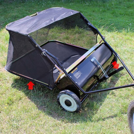Lawn sweeper with 95cm working width for mower tractor ATV