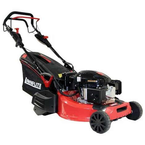 Lawnflite Rotary 53cm Petrol Lawn Mower Self Propelled R/Roller Electric Start