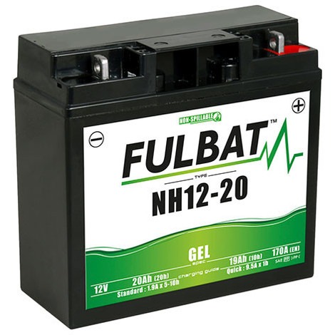Lawnmower battery / Gel motorcycle battery NH1220 / SLA12-20 12V 20Ah -  51913,ET - MOT8716-1