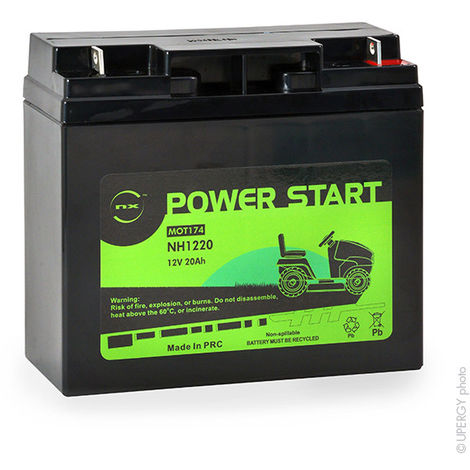 Lawnmower battery NH1220 / NH1218 12V 20Ah - MOT8608 NH1218 NH1220 F19-12B F