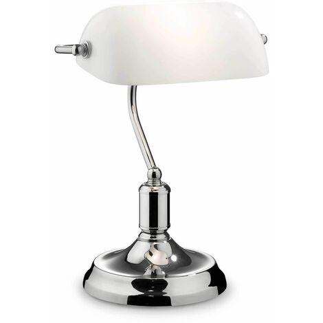 LAWYER Chrome table lamp 1 bulb