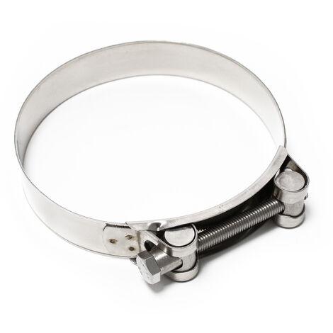 L'axe d'articulation collier de serrage W4 inox largeur 24mm diamètre 122-130mm