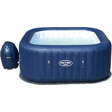 """main image of """"Lay-Z-Spa Hawaii Hot Tub, Airjet Square Inflatable Spa, 4-6 Person"""""""