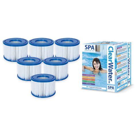Lay-Z-Spa Starter Kit - Filters, Chlorine, PH + &-,Foam Remover, Dip Test Strips