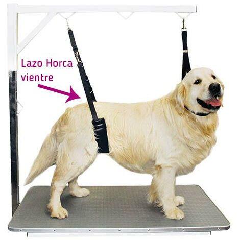 Lazo horca acolchado para vientre peluquería canina, impide que el perro se siente, disponible en talla grande o pequeña