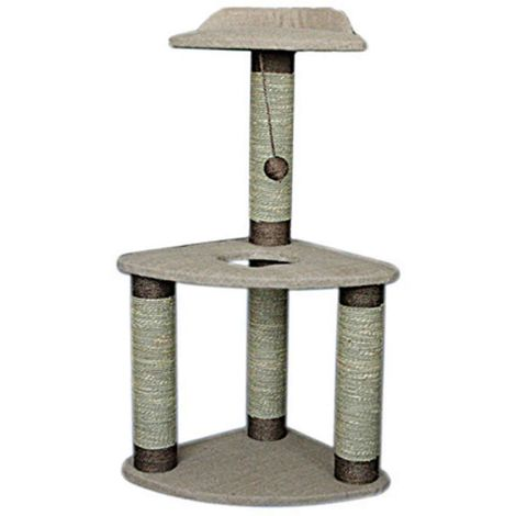 Lazy Bones 2-Tier Corner Cat Scratching Post (One Size) (May Vary)